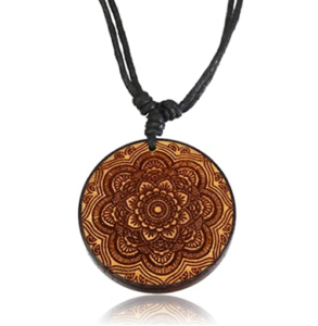 Carved Organic Wood Necklace