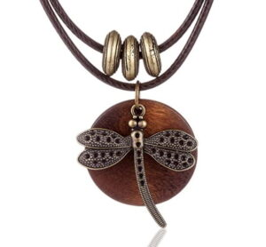 Chokers Dragonfly Wood necklace